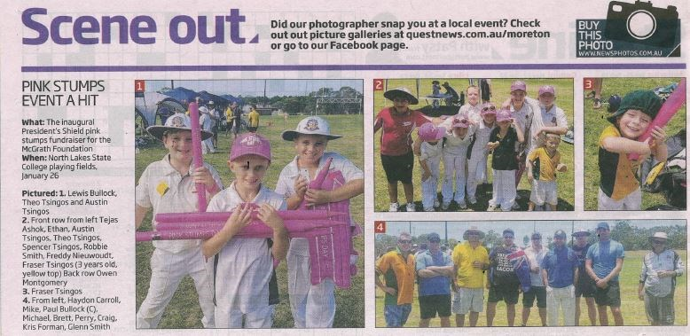 North Lakes Times  Pink Stumps